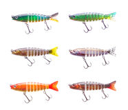 Set of plastic fish bait Royalty Free Stock Photos