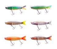 Set of plastic fish bait Royalty Free Stock Photos
