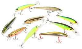 Set of plastic fishing baits Stock Photography