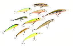 Set of plastic fishing baits Royalty Free Stock Photography