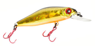 Set of plastic fishing lures Royalty Free Stock Images