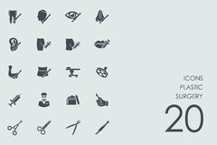 Set of plastic surgery icons. Plastic surgery vector set of modern simple icons Royalty Free Stock Photography