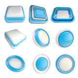 Set of plastic template buttons isolated Royalty Free Stock Photos