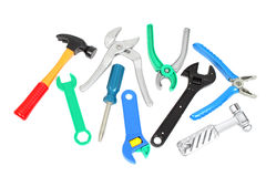 Set of plastic toy tools Royalty Free Stock Image
