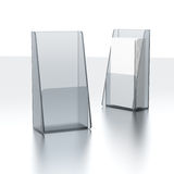 Set of plastic transparent holders Royalty Free Stock Images