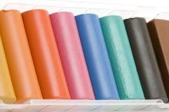 Set of plasticine Stock Images