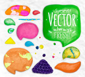 Set of plasticine design elements Stock Photography