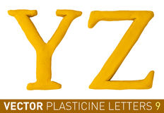 Set of plasticine letters  english alphabet. Stock Image