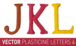 Set of plasticine letters  english alphabet. Stock Photo