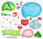 Set of plasticine objects Stock Photography
