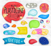 Set of plasticine sings Royalty Free Stock Photos