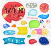 Set of plasticine sings Royalty Free Stock Photos
