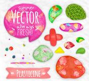Set of plasticine sings Royalty Free Stock Photography