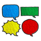 Set of plasticine speech bubbles. Royalty Free Stock Image