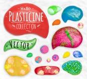 Set of plasticine symbols Royalty Free Stock Image