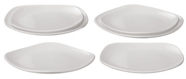 Set of plates. Isolated on white background Royalty Free Stock Image