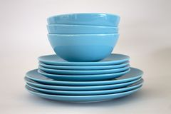Set of plates for great hospitality. Set of plates for food hospitality home use and decoration stock image