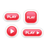 Set of Play Buttons  on White Royalty Free Stock Photo