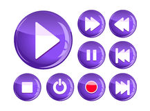 Set of play icons Royalty Free Stock Images