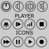Set of  player icons Stock Photography
