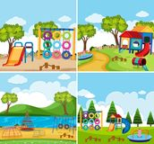 A set of playground Royalty Free Stock Images
