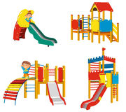 Set of Playgrounds for children Stock Photography
