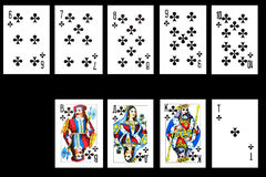Set of playing card Royalty Free Stock Photo
