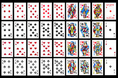Set of playing card close up Stock Photo