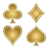 Set of playing card suits. Stock Images