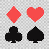 Set of playing card suits Stock Image