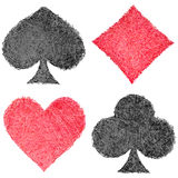 Set of playing card symbols Royalty Free Stock Image