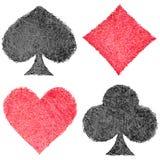 Set of playing card symbols Royalty Free Stock Image