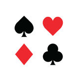 Set of playing card symbols Stock Photos