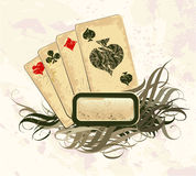 Set of playing cards. On a light background royalty free illustration