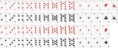 Set of playing cards. Set of cubistic-style playing cards Royalty Free Stock Photos