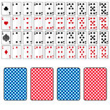 Set of playing cards from ace to ten eps10 Royalty Free Stock Photo