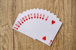 Set of playing cards poker casino Royalty Free Stock Images