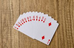 Set of playing cards poker Royalty Free Stock Image