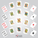 Set of playing cards : Ten, Jack, Queen, King, Ace Royalty Free Stock Image