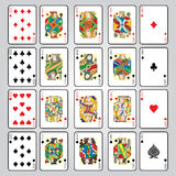 Set of playing cards : Ten, Jack, Queen, King, Ace Royalty Free Stock Images