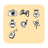 Set of playing icons Stock Photography