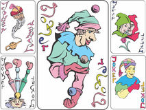 Set of playing joker cards Stock Photography