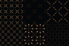 Set 6 plemiennego minimalizmu bezszwowych wzorów ilustracji