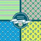 Set plemiennej tekstury geometryczni bezszwowi wzory Fotografia Royalty Free