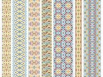 Set plemienni bezszwowi wzory royalty ilustracja