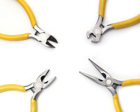 Set of pliers yellow Royalty Free Stock Images