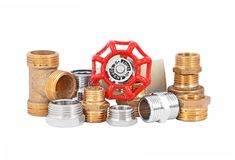 Set of plumbing elements Stock Photography