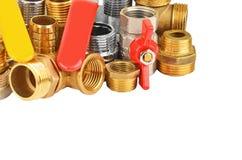 Set of plumbing elements Stock Image