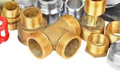 Set of plumbing elements Royalty Free Stock Image