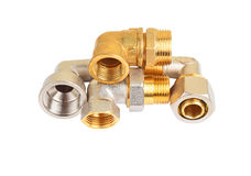 Set of plumbing fitting Royalty Free Stock Image